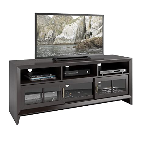 "CorLiving Carlisle TV Bench, Up to 60"", Coffee Black"