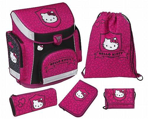 Scooli Schulranzen Campus Plus im Set mit dem Motiv Hello Kitty