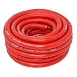 SoundBox PW0-25R, 1/0 Gauge 0 AWG Oxygen Free Copper Red Power Wire - 25 Ft.