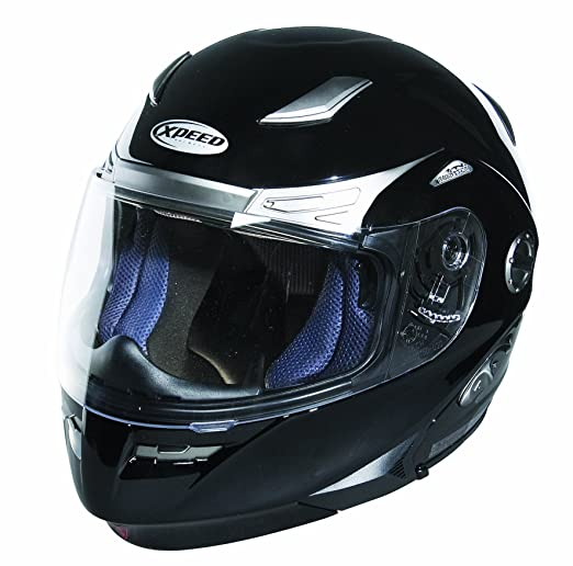 Xpeed 50021504 Casque Roadster Solid taille M (Noir brillant)