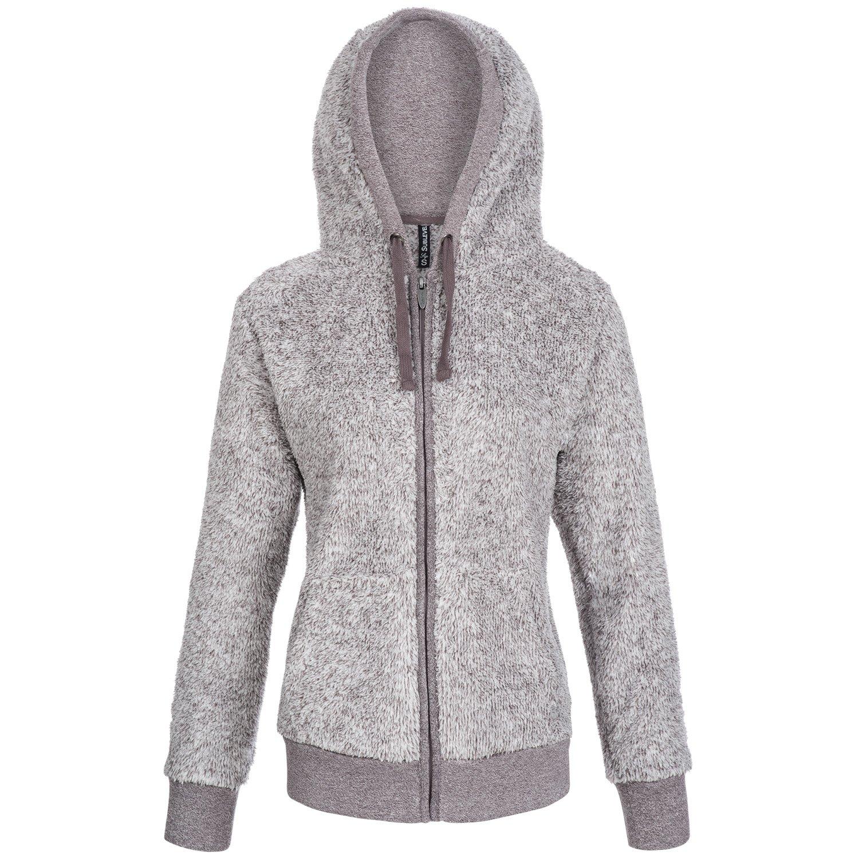Damen flauschig weiche warme Fleecejacke mit Teddy-Fell online kaufen