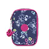 Kipling Disney's Minnie Mouse And Mickey Mouse 100 Pens Printed Case Doodle Blue (Color: Doodle Blue, Tamaño: One Size)