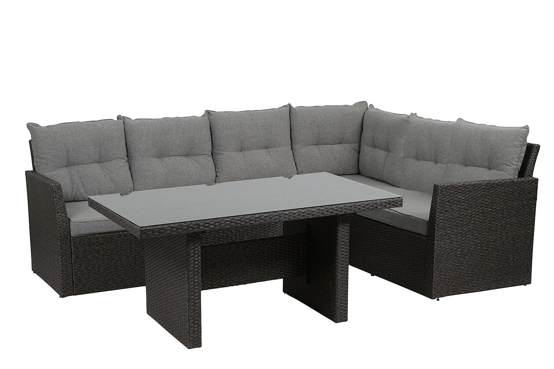H.G. Gartenmöbel-Set Calvia Lounge 3-teilig inklusive Kissen, grau günstig kaufen