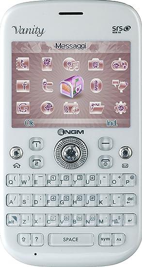 NGM Vanity Qwerty Smartphone débloqué (Ecran: 2.4 pouces) Blanc (import Italie)