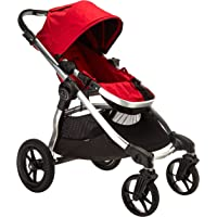 Baby Jogger Baby City Select Single Stroller with Silver Frame (Red) + Free HyChair