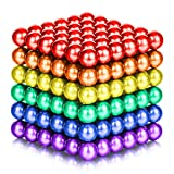 ATESSON Magnetic Sculpture Balls Intellectual Office Toys Anxiety Stress Relief Killing Time Puzzle Creative Educational Toys for Kids Adults (6 Colors,5mm) (Color: Multicolored)