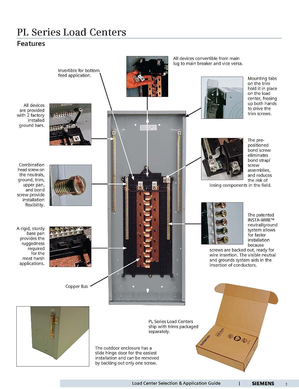 circuit breaker panel load center siemens 125a 12space 24. Black Bedroom Furniture Sets. Home Design Ideas