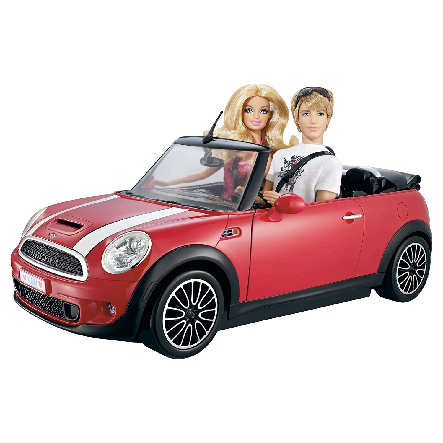 Barbie Ken My Cool Mini Cooper Convertible Red Car New