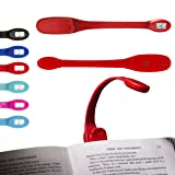 Flexilight Xtra Booklight Flexible Portable LED Clip Reading Light Book Lover Gift - Red Flexilight (Color: Red)