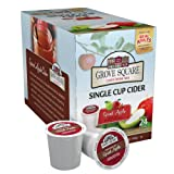 Grove Square Cider, Spiced Apple, 24 Single Serve Cups (Color: Coffee, Tamaño: 24 Count)