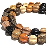 [ABCgems] Premier-Wood-Collection (Rainbow Combination- Up to 12 Different Exotic Hardwood) Precision-Cut 10mm Hand-Carved Melon-Cut Round Wood Beads (No Clasp) (Color: Melon, Tamaño: 3) 10mm)