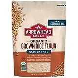 Arrowhead Mills Organic Gluten Free Brown Rice Flour, 24 oz. (Pack of 6)