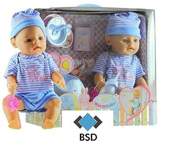 Baby Doll avec Potty et accessoires - poupée fonctionnelle - Newborn Doll - Baby Doll - bébé poupée - poupée Interactive - poupée avec bouteille, mamelons, couche - Baby Boy