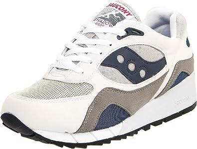 Saucony Originals Men's Shadow 6000 Cushion Sneaker,White/Grey/Navy,7 M