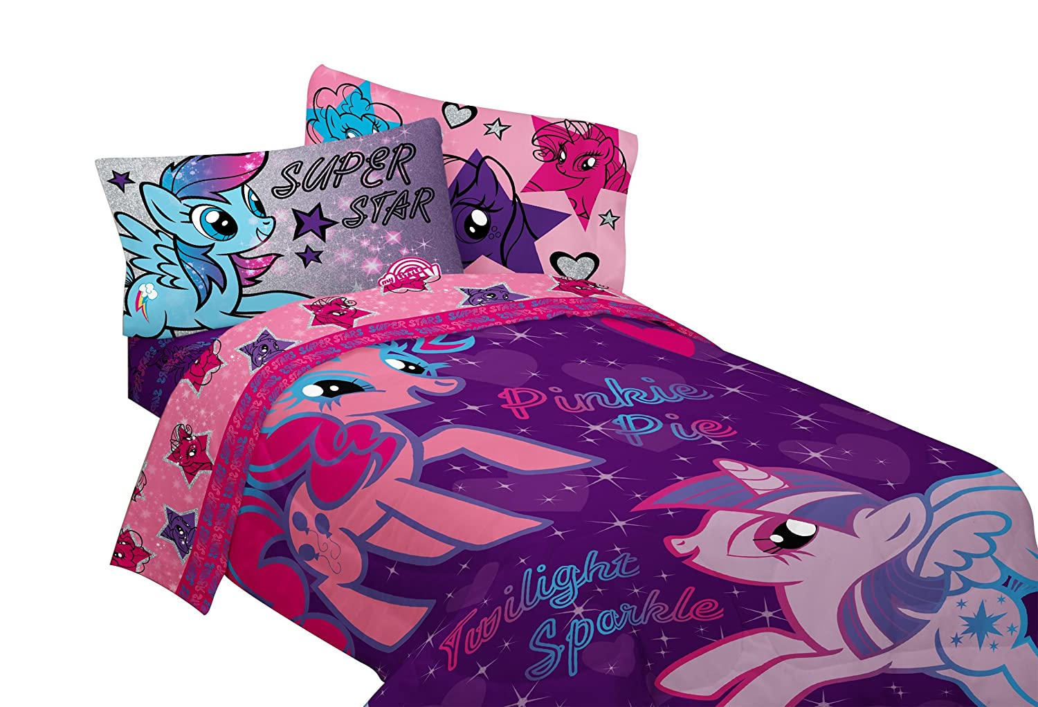 hasbro my little pony the stars are out sheet set twin. Black Bedroom Furniture Sets. Home Design Ideas