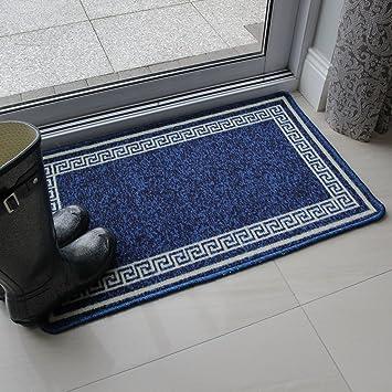 tapis de cuisine cuisine bleu motif blanc durable lavable lavable usage multiple mod le luna. Black Bedroom Furniture Sets. Home Design Ideas