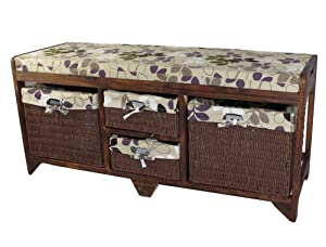 Geko 100 x 34 x 45 cm Aston Wooden Storage Bench       Customer review and more news