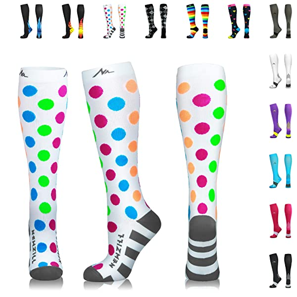 Newzill Compression Socks 20 30mmhg For Men Women Best Stockings For Running Medical Athletic Edema