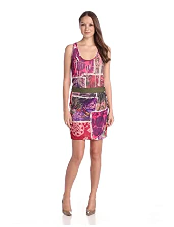 Desigual Vest Palio Wrap Women's Dress Kaki Size 10