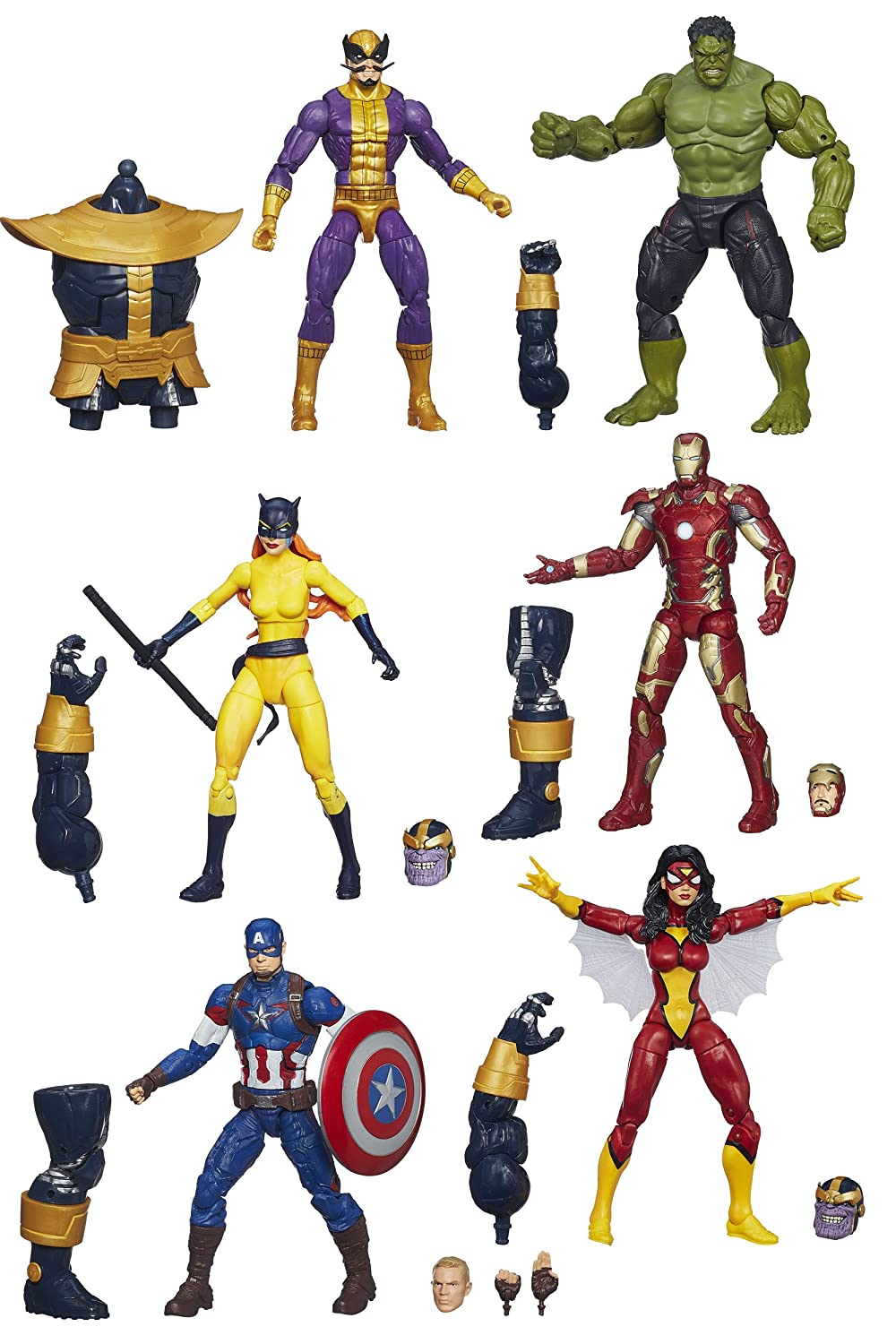 "DISNEY MARVEL Comics LEGENDS Actionfiguren Reihe ""Infinite"" – komplette Wave 2 – u.a. mit HULK, THANOS, CAPTAIN AMERICA und andere jetzt bestellen"