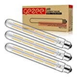 GEZEE T10(T30),8.9in(225mm), 3-Pack,Dimmable 8W Long Tube Decorative Light Bulb,Edison Style Vintage LED Filament Light Bulb,Antique Shape, Warm White 2700K,800LM(80W Equivalent), E26 Medium Base Lamp (Color: 8w/3pcs/Dim)