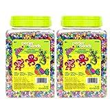 Perler Fuse Beads Fun Fusion Multi-Mix, 22,000 Pieces, 2 Pack (Color: Multicolor, Tamaño: 22,000 Pieces)