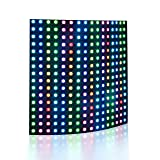 ALITOVE WS2812B Individually Addressable RGB LED Flexible Panel Matrix Screen 16x16 256 pixels Dream Color Digital LED Video Board DC5V (Color: 16*16, Tamaño: 16x16 Flexible LED Matrix)
