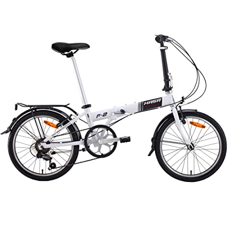 HASA Folding Foldable Bike Compatible with Shimano 6 Speed