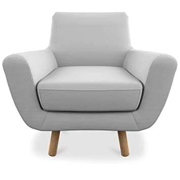 Oxydesign Fauteuil gris clair design scandinave - Jona