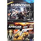 Sony PS3 Cabela's DOUBLE GUN BUNDLE Shadows of Katmai + African Adventures Games for Playstation 3
