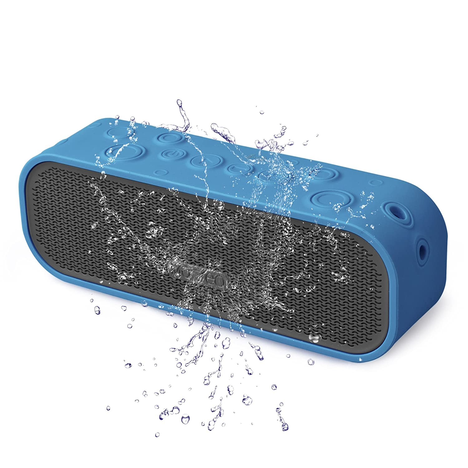 MOCREO® Water-resistant NFC Portable Bluetooth Speaker Rugged Splash Proof + Hands-free Speakerphone w/ Built-in Mic + Dual Stereo Speakers + TF Card Slot Indoor/Outdoors Waterproof Speaker IPX5 + Latest Bluetooth 4.0 W/ NFC Compatible w/ Apple iPhone 6 lycheers waterproof wireless fm radio bluetooth mini shower stereo speaker with hook handle and hands free speakerphone