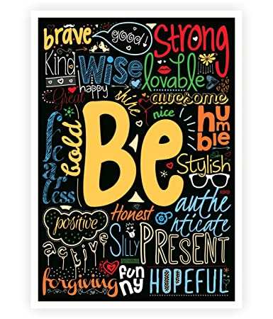 Be Happy, strong, brave Life Inspirational Quotes Collage Wall ...