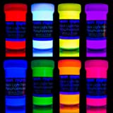 neon nights Glow in the Dark | Luminescent | Phosphorescent | Self-Luminous Paint - Set of 8 by neon nights