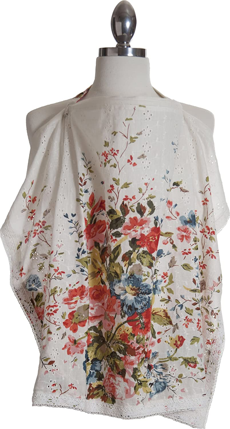 Baybee Ethiks Fair Trade Nursing Cover + Carrying Case; Summer Weight Cotton my fair duchess