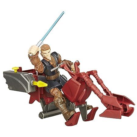 Hasbro – B3833 – Hero Mashers – Star Wars – Jedi Speeder & Anakin Skywalker – Figurine Personnalisable 15 cm + Véhicule