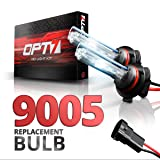 OPT7 2pc Blitz 9005 Replacement HID Bulbs [8000K Ice Blue] Xenon Light (Color: 8000K Ice Blue, Tamaño: 9005)