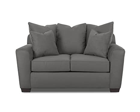 Klaussner HEATHER Loveseat, Charcoal