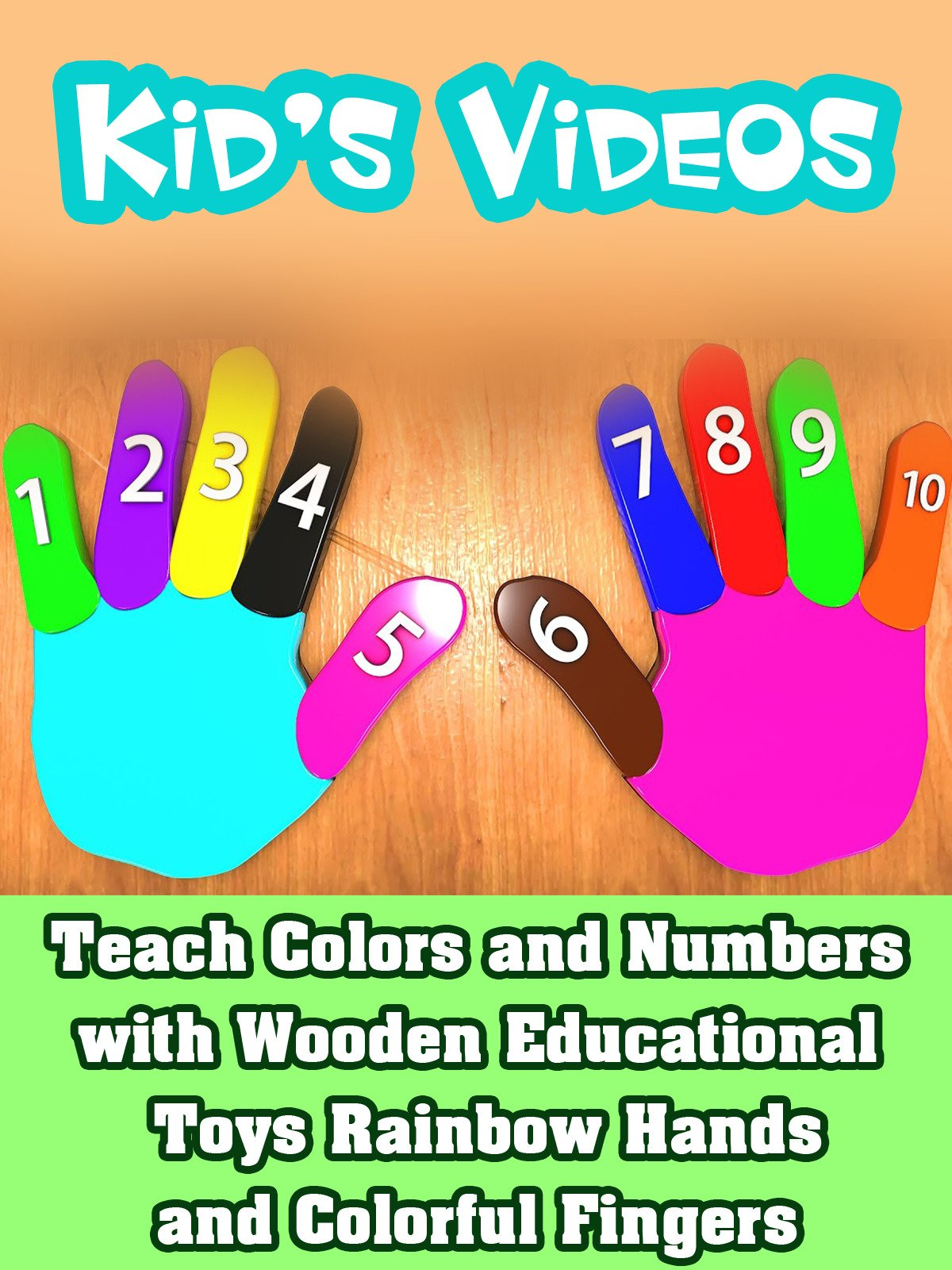 Teach Colors and Numbers with Wooden Educational Toys Rainbow Hands and Colorful Fingers