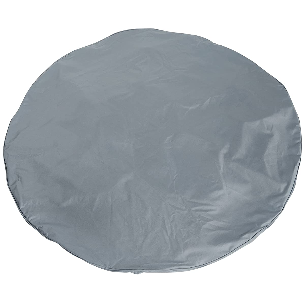 """VonHaus Round Patio Table and Chair Cover - 'The Storm Collection' Premium Heavy Duty Waterproof Outdoor Furniture Set Protection - Slate Gray with Beige Trim - 96"""" Diameter x 22 Height"""