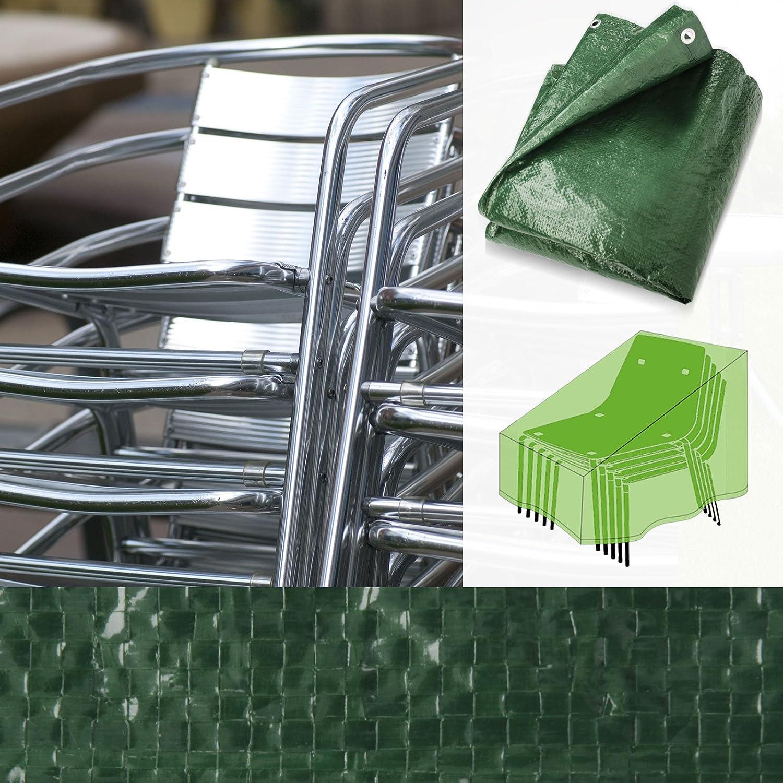 Schutzhülle für Gartenstühle (Stapelstühle) | schnelltrocknend | 66x66x110/150cm günstig