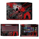 decalrus - Protective Decal Skull Skin Sticker for Acer Nitro 5 AN515-51 (15.6