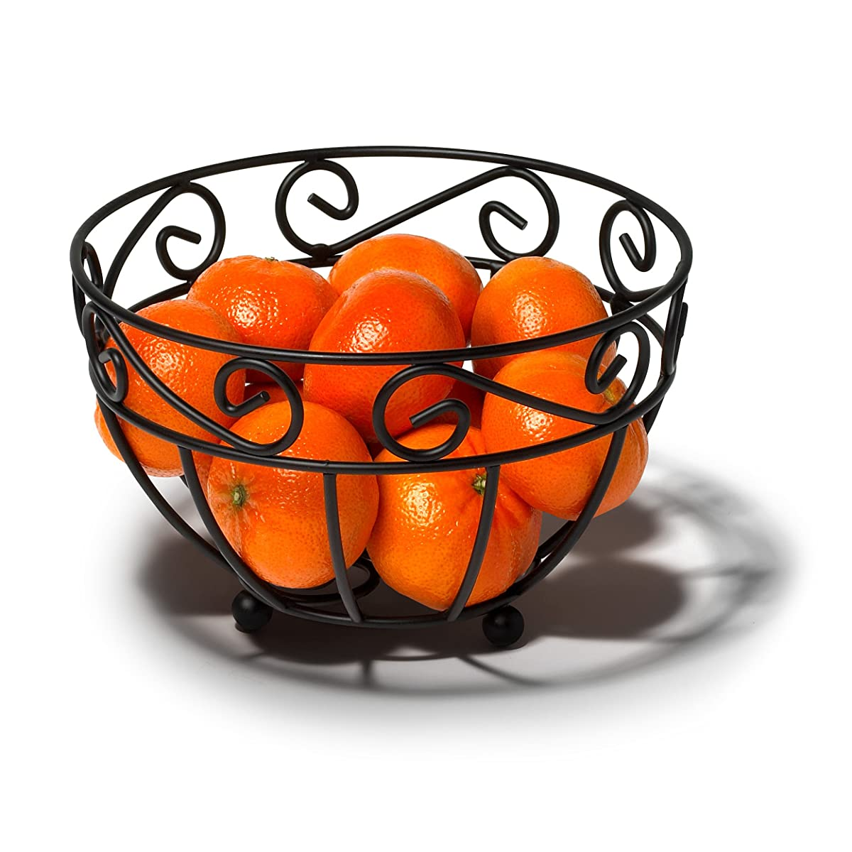 Spectrum Diversified Scroll Mini Fruit Bowl, Black