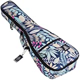 Ukulele Case Soprano Size Reyesano 8 Official Colors Double woven carry handle Adjustable backpack straps Ultra Thick Padding with Enhanced Glide Zipper (Tamaño: Soprano)