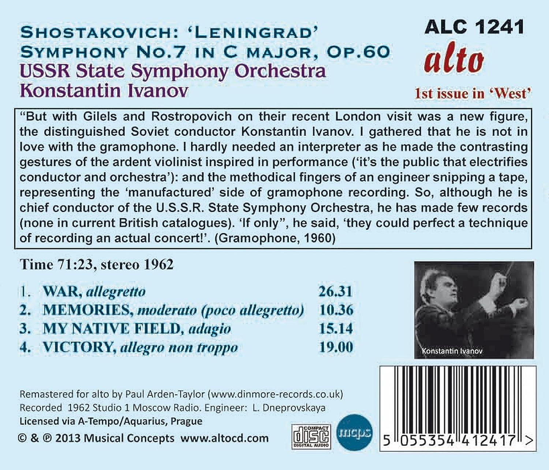 """Chostakovitch : Symphonie n°7 """"Leningrad"""" 81uVQ1JoRRL._SL1500_"""
