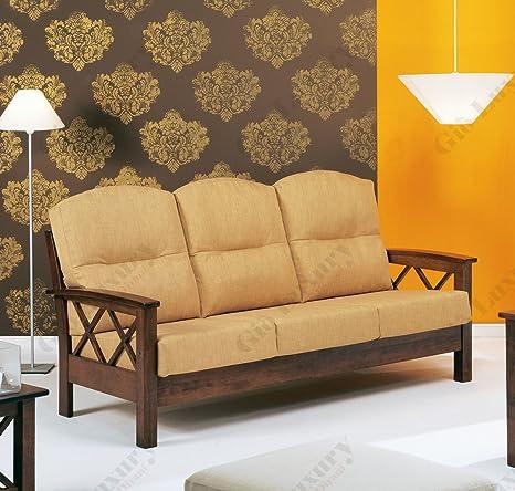"""Divano 3 posti """"helsinki_jose Arte povera"""" con struttura in legno massello completamente sfoderabile in pronta consegna 184 x 85 x 92 - Made in Italy"""