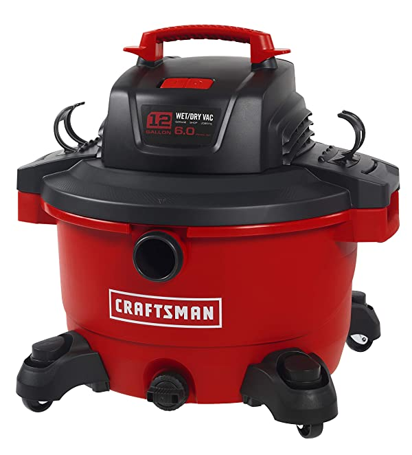 CRAFTSMAN 17594 12 gallon 6 Peak Hp Wet/Dry Vac, Portable Shop Vacuum with Attachments (Tamaño: 12 Gallon 6.0 Peak HP)