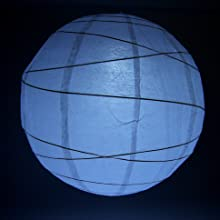 """Fortune PLL-12W 12-LED Light for Paper Lanterns, 1-5/8"""" Width x 3-5/8"""" Height, White"""