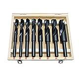 Reduced Shank Drill Bit Set Silver & Deming Metric 13mm - 25mm