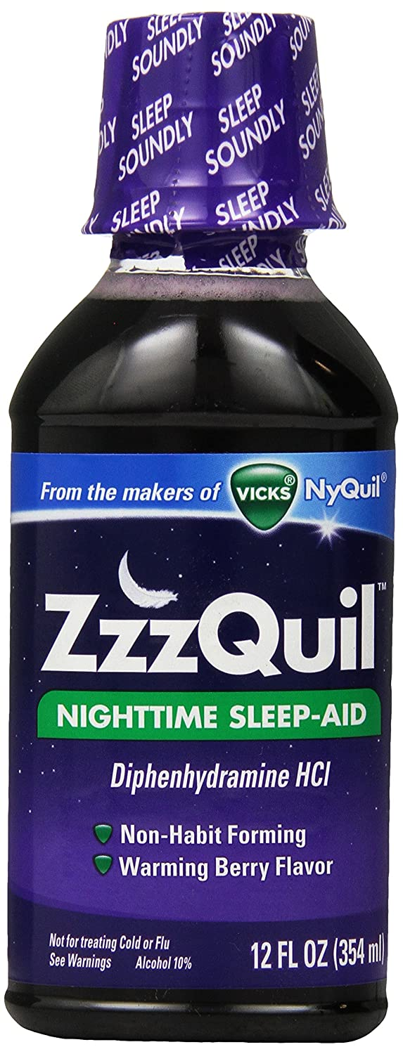 ZzzQuil Nighttime Sleep-Aid Liquid Warming Berry Flavor 12 Fl Oz