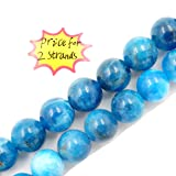 Malahill Premium Gemstone Beads for Jewelry Making Precious Natural Stone Beads Wholesale 2 Strands AAA Grade Apatite Beads 10mm (Color: Apatite, Tamaño: 10mm)